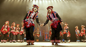Chinese national dancers perform traditional dance Stock Photo