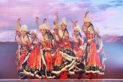 Chinese national dancing Royalty Free Stock Photos