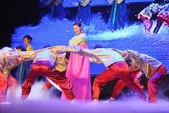 Chinese national dancing Stock Photo
