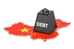Chinese national debt or budget deficit, financial crisis   Stock Image