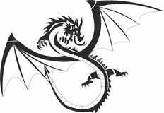 Chinese National Dragon stock photos