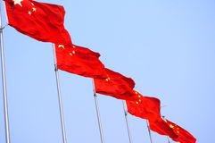 Chinese national flag Royalty Free Stock Photos