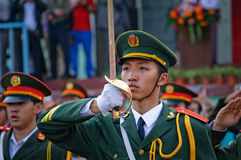 The Chinese national flag ceremony Royalty Free Stock Image
