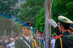 The Chinese national flag ceremony Royalty Free Stock Images
