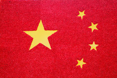 Chinese national flag made of flower. The national flag of communist China made of red flower Stock Image
