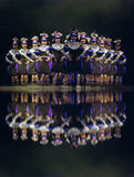 Chinese national group dancers Royalty Free Stock Image