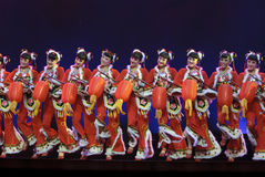 Chinese national group dancers Royalty Free Stock Photos