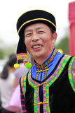 Chinese  national minority male old man Stock Photography