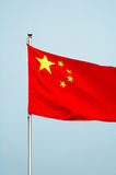 Chinese nationale vlag Stock Afbeeldingen