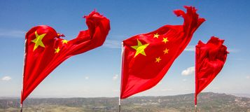Chinese Nationale Vlag - China Royalty-vrije Stock Afbeelding