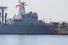Chinese Navy Goodwill Tour Stock Image