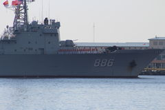 Chinese Navy Goodwill Tour Royalty Free Stock Image