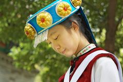 Chinese Naxi woman Stock Photography