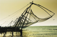 Chinese nets in Kochi Royalty Free Stock Photo