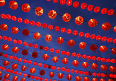 Chinese New Year. Traditional red lanterns for decorations during Chinese New Year stock photo