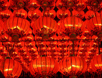 Chinese New Year. Red lights during a Chinese New Year stock image