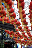 Chinese New Year 2012 - Bangkok , Thailand. BANGKOK - JANUARY 23 : Chinese New Year 2012 - Red Chinese Lanterns decorate Chinatown, Bangkok, Thailand Stock Photos