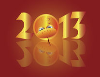 Chinese New Year 2013 Snake Circle Stock Photos