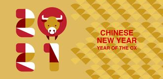 Free Chinese New Year , 2021, Happy New Year, Year Of The OX, Modern Design, Colorful, Cow,.geometry Royalty Free Stock Images - 169062799
