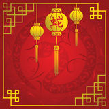 Chinese New Year. A vector illustration of Chinese New Year background design