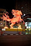 Chinese new year. A paper lit horse symbol of the chinese new year in Singapore Royalty Free Stock Photography