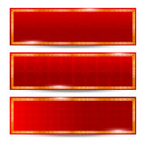 Chinese new year Abstract Background 0001. Abstract chinese red background and gold border on the white background vector illustration Vector Illustration