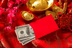Chinese new year ang pow. Chinese new year festival decorations, red packet or ang pow is given to children and elders during chinese new year for blessing