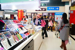 Chinese New Year approaching, the store interior landscape Royalty Free Stock Images