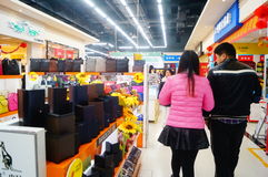 Chinese New Year approaching, the store interior landscape Royalty Free Stock Image
