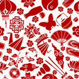 Chinese new year asian culture seamless pattern Royalty Free Stock Photo