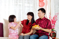Chinese new year. Asian family celebrating chinese new year