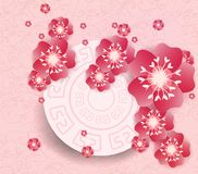 Chinese new year background blooming sakura branches.  Stock Photography