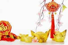 Chinese New Year background 2019 royalty free stock images