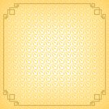 Yellow chinese little fan abstract background with gold border Stock Image