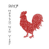 Chinese new year. Background for 2017 Chinese new year. The year of rooster. Vector illustration. 2017 new year of rooster. Black lettering 2017 new year and Royalty Free Stock Photos