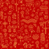 Chinese new year background, seamless pattern for your design Royalty Free Stock Photo