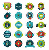 Chinese New Year badge flat banner design background set, eps10 Stock Photography