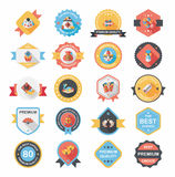 Chinese New Year badge flat banner design background set, eps10 Stock Photos