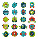 Chinese New Year badge flat banner design background set, eps10 Royalty Free Stock Photography