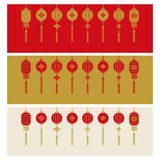 Chinese new year banner background vector illustration stock illustration