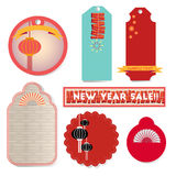 Chinese new year banners and seals Stock Image