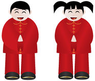 Chinese New Year Boy and Girl Royalty Free Stock Photo