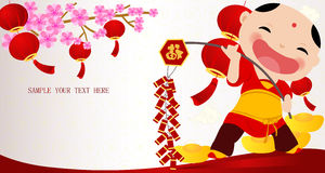Chinese new year boy Royalty Free Stock Images
