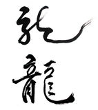 Chinese New Year Calligraphy mean Dragon Royalty Free Stock Photo