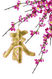 Chinese New Year calligraphy ornament Stock Image