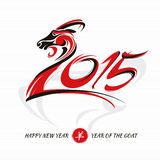 Chinese new year card with goat Royalty Free Stock Photo