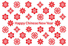 Chinese New Year card with Chinese icons. Chinese New Year card with Chinese flower icons Royalty Free Stock Images