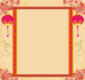 Chinese New Year card. Illustration vector illustration