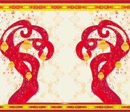 Chinese New Year card. Illustration royalty free illustration