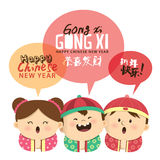 Chinese New Year card Royalty Free Stock Image